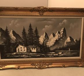 olej na plátně, Alpy