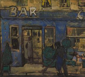 Před barem v Paříži