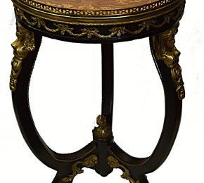 Kulatý stolek intarzovaný