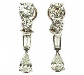 Diamantové náušnice