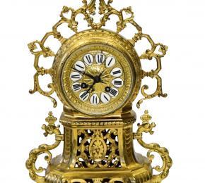 Bronzové hodiny - Slunce