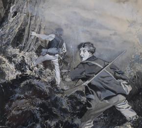 Dva lovci v divokém lese