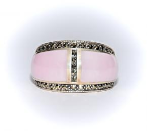 Prsten s růženínem hladký