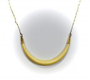 Náhrdelník zlato a slonovina