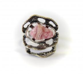 Prsten s růženínem natur