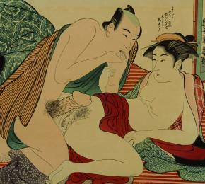 Nahý muž a nahá gejša