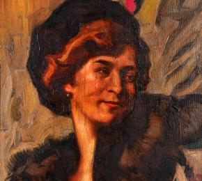 Portrét dámy v klobouku