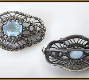 Stříbrný colier s markazity