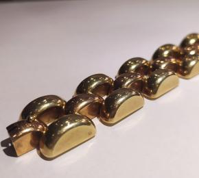 Zlatý masivní náramek