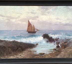 Plachetnice u pobřeží