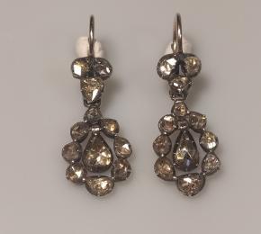 Náušnice diamantové